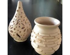 Set de doua obiecte din ceramica alba