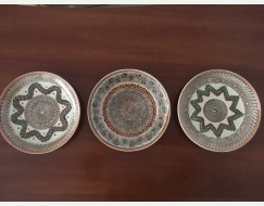 Set de 3 farfurii decorative Horezu