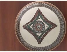 Set de 3 farfurii decorative Horezu