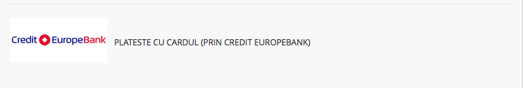 Plateste prin credit Europe Bank